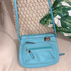 Teal purse with silk lining
